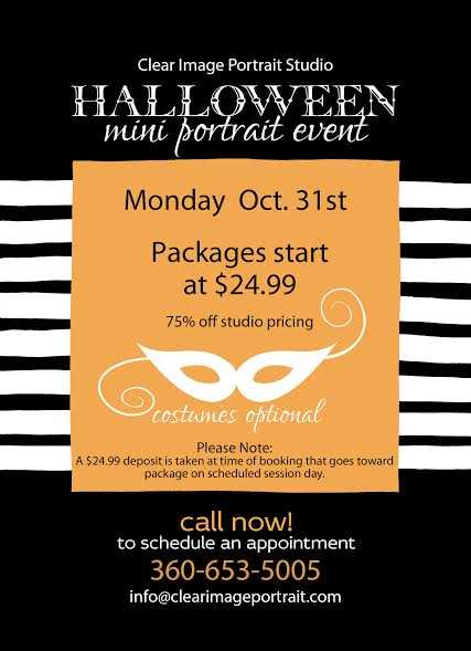 Halloween Mini Portrait Event!