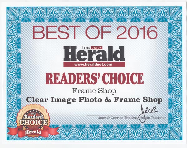 Frame Shop | Clear Image Photography